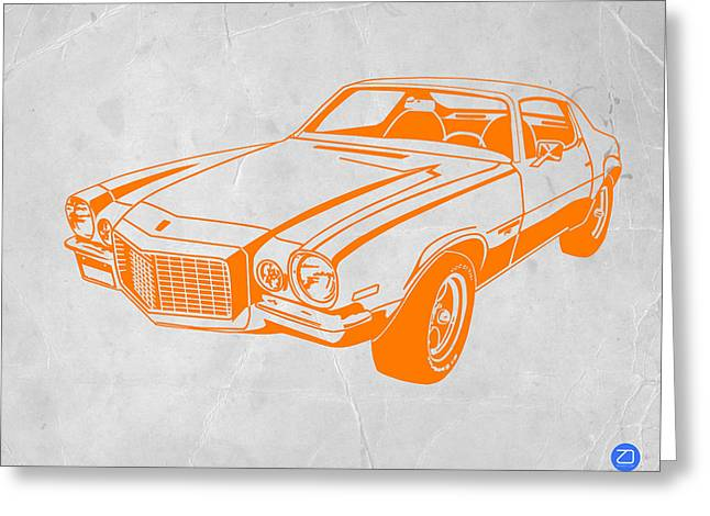 Muscles Greeting Cards - Camaro Greeting Card by Naxart Studio