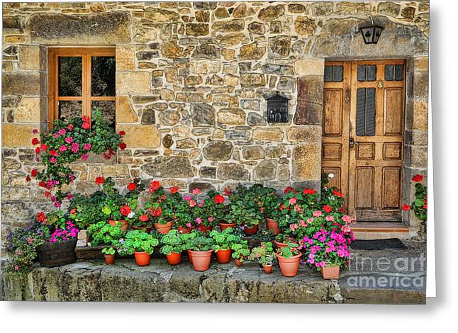 Historic Village Cross Greeting Cards - Cambarco_155A7642 Greeting Card by Diana Sainz