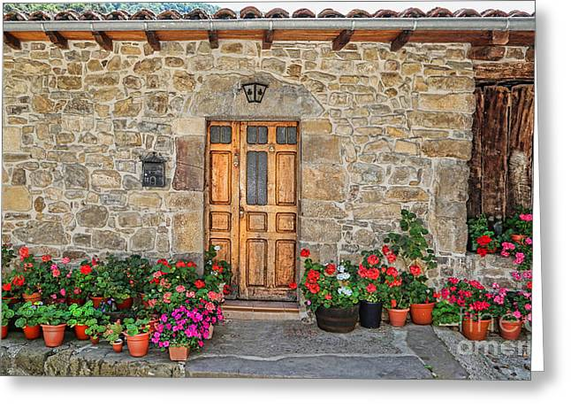 Historic Village Cross Greeting Cards - Cambarco_155A7643 Greeting Card by Diana Sainz