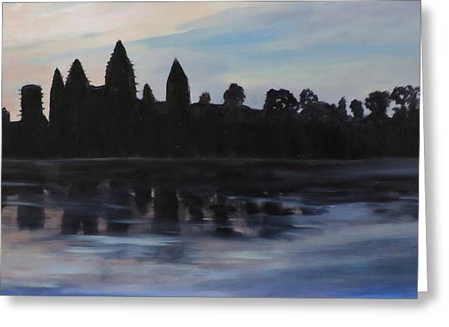 Cambodia Temples Greeting Card by Betty Pimm