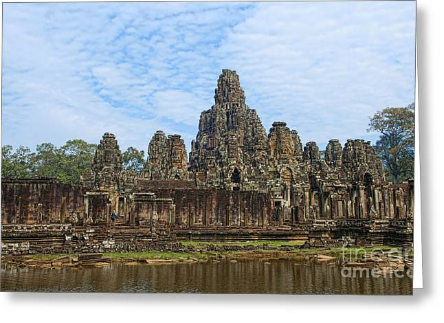 Cambodias Banyan Temple Greeting Card by Bill Bachmann - Printscapes