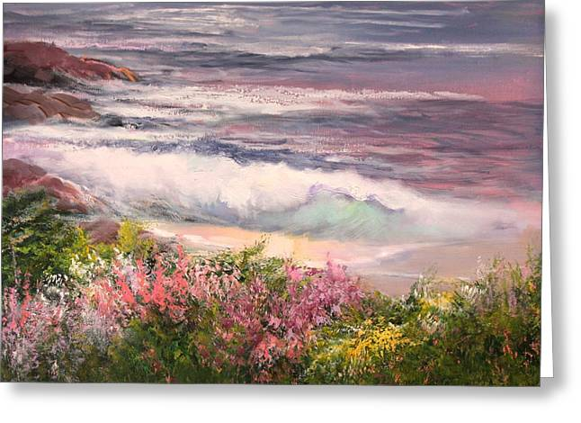 Cambria Greeting Cards - Cambria Spring Greeting Card by Sally Seago