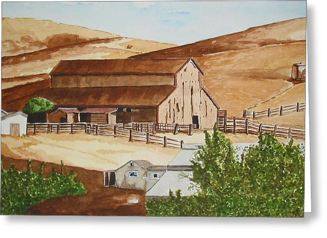 Best Sellers -  - Cambria Greeting Cards - Cambrian Barn Greeting Card by Gerald Carpenter