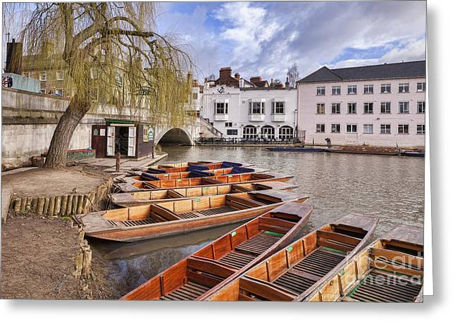 Punting Greeting Cards - Cambridge Greeting Card by Colin and Linda McKie