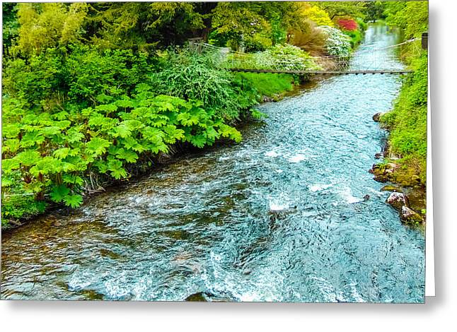 Peaceful Scene Greeting Cards - Camcor River Greeting Card by Felikss Veilands