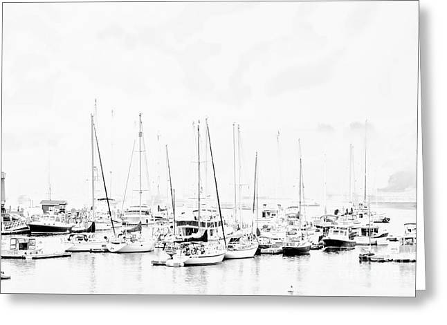 Wooden Ship Greeting Cards - Camden Harbor Maine Greeting Card by Marcia Lee Jones