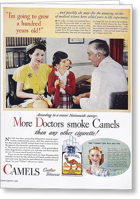 Advertising Office Greeting Cards - Camel Cigarette Ad, 1946 Greeting Card by Granger