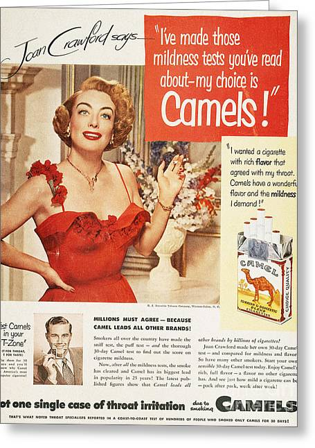 Recently Sold -  - Endorsement Greeting Cards - Camel Cigarette Ad, 1951 Greeting Card by Granger