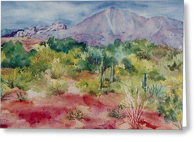 Camelback Mountain Greeting Cards - Camelback Mountain Greeting Card by Pam Smyth