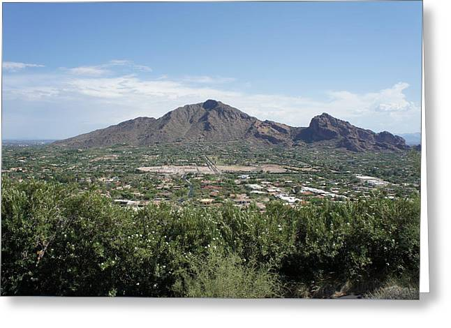 Camelback Mountain Greeting Cards - Camelback Mountain Greeting Card by Priscilla Wolfe