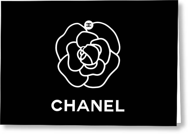 Camellia Chanel Greeting Card by Tres Chic