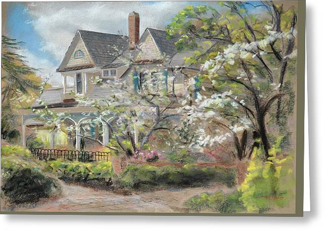Camelia Cottage Greeting Card by Christopher Reid