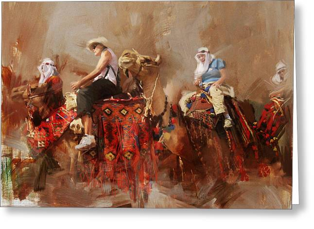 Camels And Desert 14 Greeting Card by Mahnoor Shah