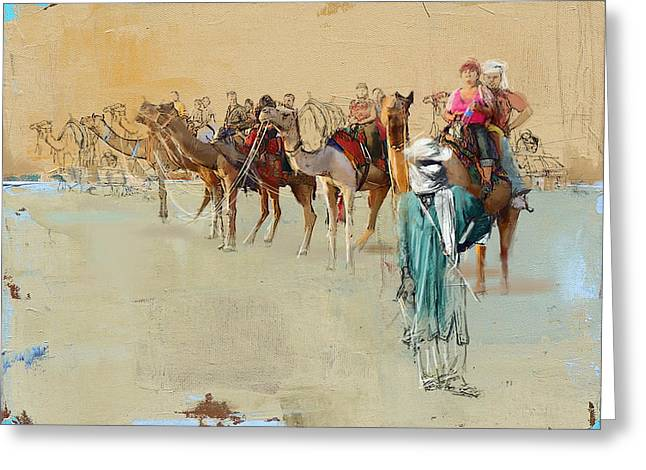 Camels And Desert 2 Greeting Card by Mahnoor Shah