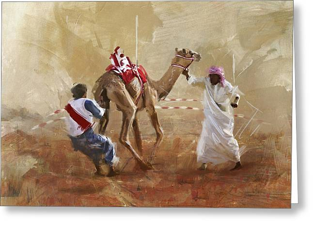 Aladdin Greeting Cards - Camels and Desert 20 Greeting Card by Mahnoor Shah