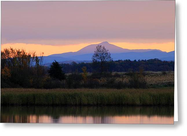 Hump Greeting Cards - Camels Hump Mountain from Dead Creek Greeting Card by John Burk