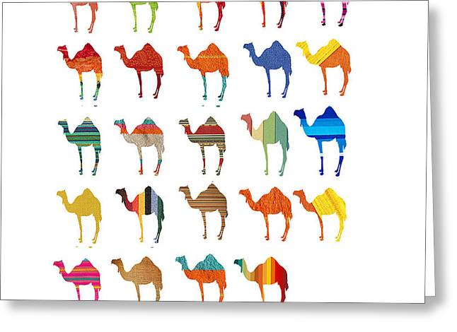 Camels Greeting Card by Art Spectrum