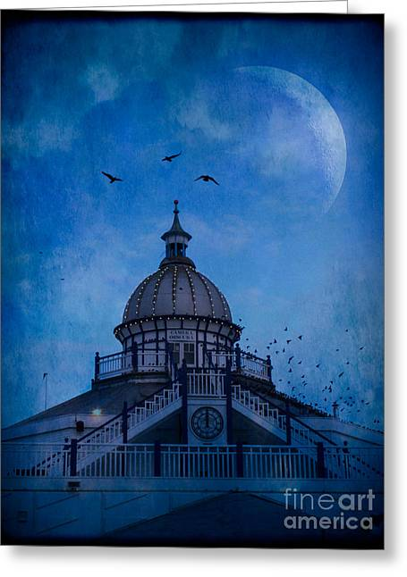 Camera Obscura - Eastbourne Pier Greeting Card by Ann Garrett