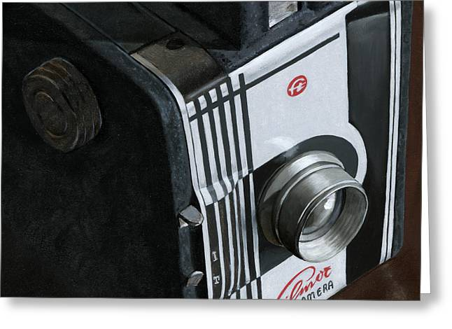 Photorealism Greeting Cards - Camera Greeting Card by Rob De Vries