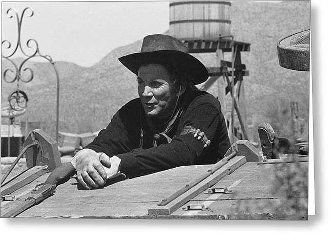 Cameron Mitchell The High Chaparral Set Old Tucson Arizona 1969 Greeting Card by David Lee Guss