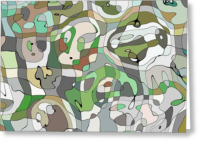 Dogs Digital Greeting Cards - Camo Dogs Greeting Card by Luke Tyler