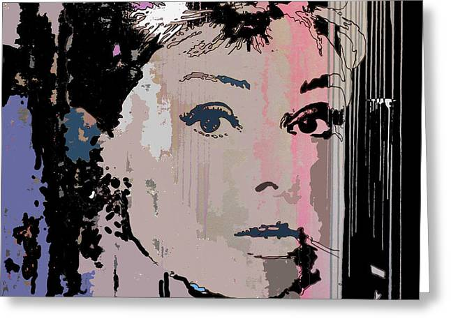 Jackie Kennedy Onassis Greeting Cards - Camouflage Audrey Greeting Card by Santiago Picatoste