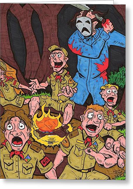 Camp Fire Story Greeting Card by Anthony Snyder