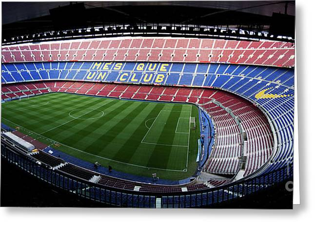 Camp Nou Greeting Card by Agusti Pardo Rossello