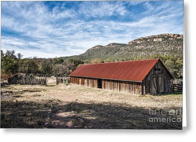 Red Roofed Barn Greeting Cards - Camp Rucker Barn 1 Greeting Card by Al Andersen