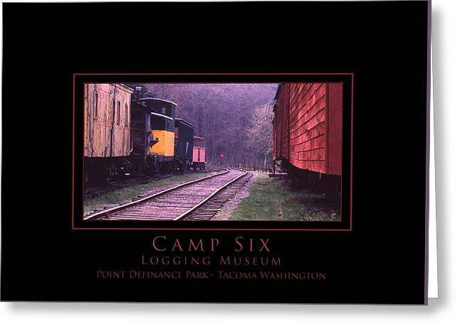 Camp Six - Logging Museum Greeting Card by Patricia Whitaker