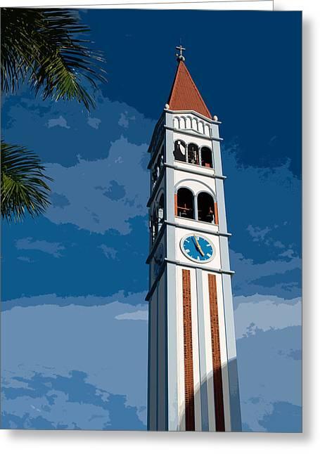 Campanario - Iglesia Maria Auxiliadora X Greeting Card by Totto Ponce
