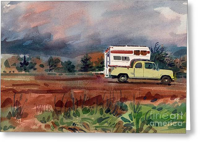 Highway Greeting Cards - Camper on Pacific Coast Highway Greeting Card by Donald Maier