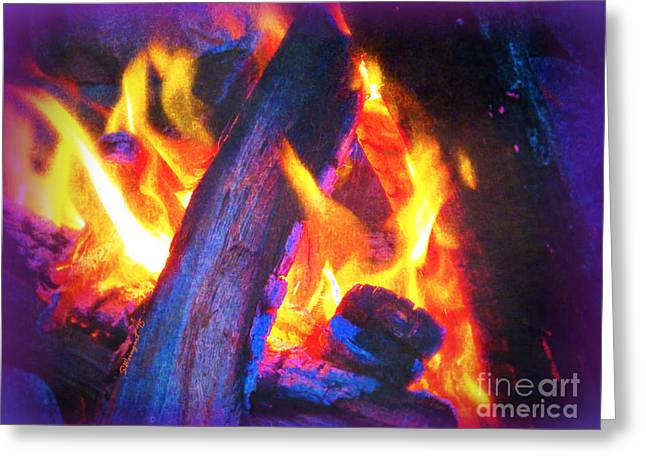 Campfire Stories Greeting Cards - Campfire Greeting Card by Shelly Weingart