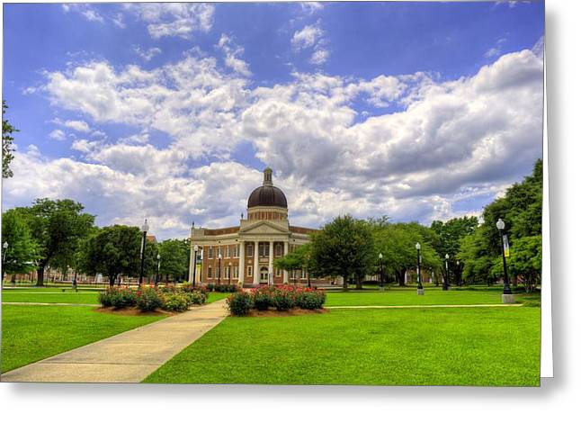 Hattiesburg Photographs Greeting Cards - Campus Life at Southern Miss Greeting Card by JC Findley