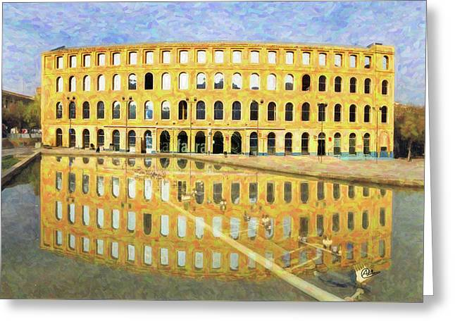Can Fabra Barcelona Greeting Card by Joaquin Abella