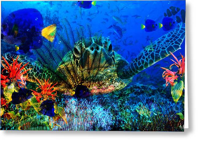 Ocean Art Photography Greeting Cards - Can you see me Greeting Card by Mark Walton