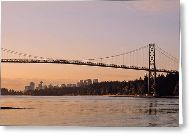 Lions Gate Bridge Greeting Cards - Canada, British Columbia, Vancouver Greeting Card by Panoramic Images