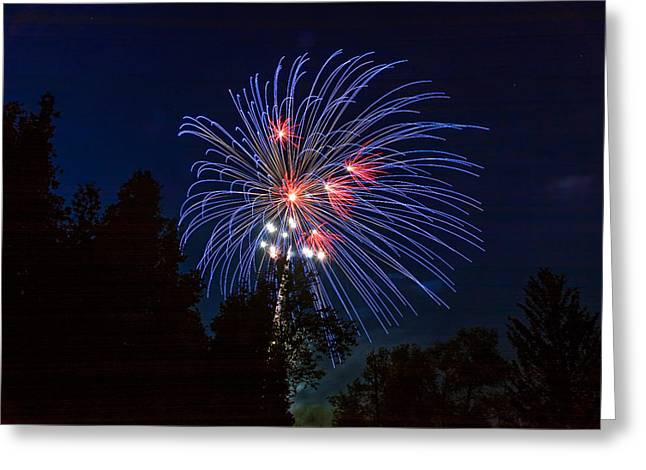 Fireworks Prints Greeting Cards - Canada Day 3 Greeting Card by Steve Harrington
