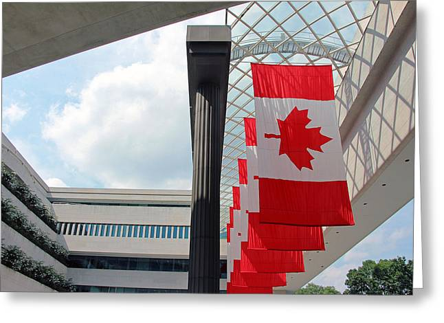 Modern Photographs Greeting Cards - Canada Day At The Canadian Embassy Greeting Card by Cora Wandel