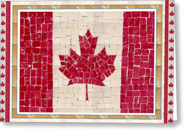 Customizable Greeting Cards - Canada Golory Decorations  Proud Canadian Flag  artistic version sizes colors and image   Greeting Card by Navin Joshi