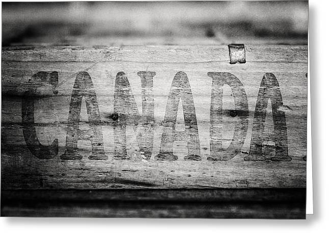 Black Lodge Greeting Cards - Canada in Black and White Greeting Card by Lisa Russo