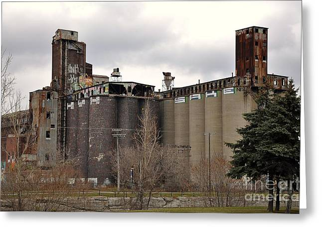 Maltings Greeting Cards - Canada Malting Plant 2 Greeting Card by Reb Frost