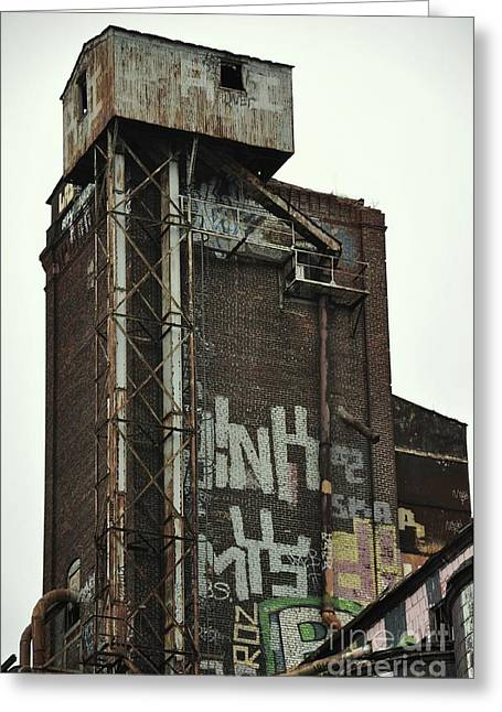 Maltings Greeting Cards - Canada Malting Plant St. Patrick Greeting Card by Reb Frost