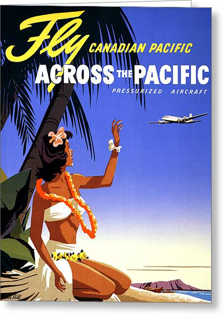 Historical Images Greeting Cards - Canada Vintage Travel Poster Restored Greeting Card by Carsten Reisinger