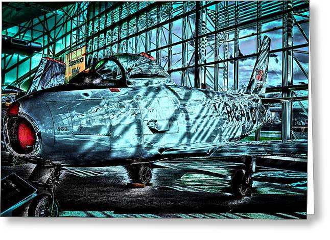 Old Aircraft Greeting Cards - Canadair CL-13B Sabre MK. 6  Greeting Card by David Patterson