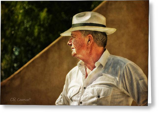 Canadian Artist In Provence Greeting Card by CR  Courson