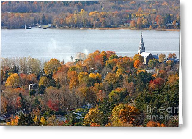 Quebec Scenes Greeting Cards - Canadian Autumn Greeting Card by Mircea Costina Photography