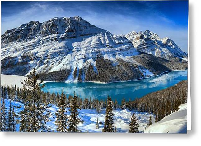 Canadian Rockies Winter Paradise Greeting Card by Adam Jewell