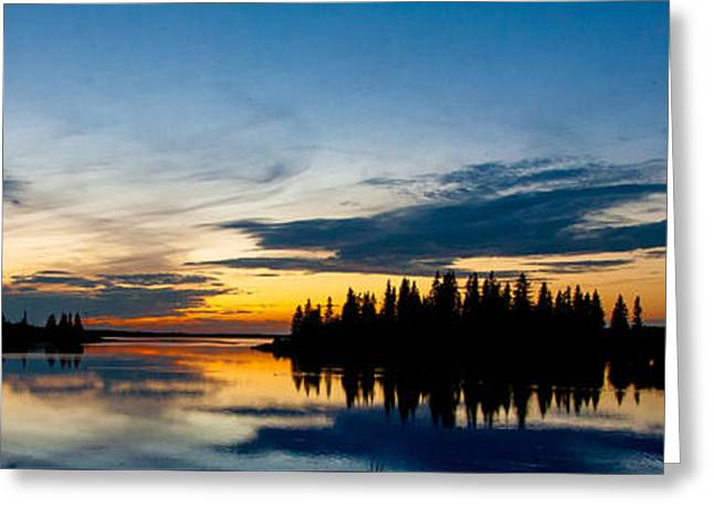Canadian Wilderness Greeting Cards - Canadian Wilderness Sunset 1 Greeting Card by Ian MacDonald