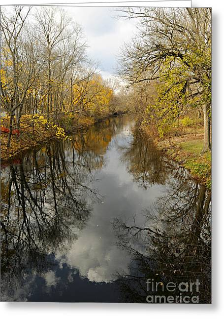 Best Sellers -  - Stockton Greeting Cards - Canal at Stockton Greeting Card by Addie Hocynec